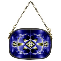 Fractal Fantasy Blue Beauty Chain Purses (Two Sides)