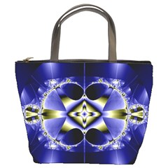Fractal Fantasy Blue Beauty Bucket Bags