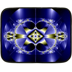 Fractal Fantasy Blue Beauty Double Sided Fleece Blanket (Mini)