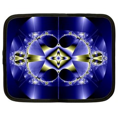 Fractal Fantasy Blue Beauty Netbook Case (XL)