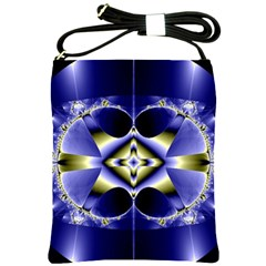 Fractal Fantasy Blue Beauty Shoulder Sling Bags