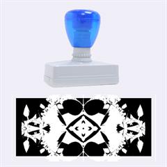 Fractal Fantasy Blue Beauty Rubber Stamps (Large)