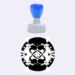 Fractal Fantasy Blue Beauty Rubber Round Stamps (Medium)