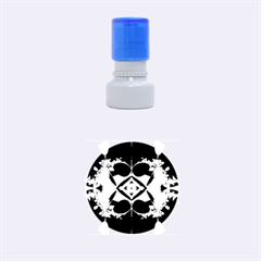 Fractal Fantasy Blue Beauty Rubber Round Stamps (Small)