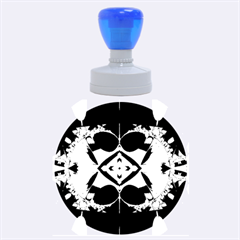 Fractal Fantasy Blue Beauty Rubber Round Stamps (Large)