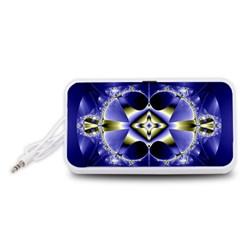 Fractal Fantasy Blue Beauty Portable Speaker (White)