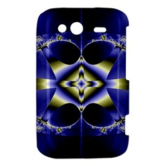 Fractal Fantasy Blue Beauty HTC Wildfire S A510e Hardshell Case