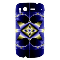 Fractal Fantasy Blue Beauty HTC Desire S Hardshell Case