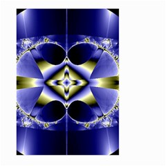 Fractal Fantasy Blue Beauty Large Garden Flag (Two Sides)