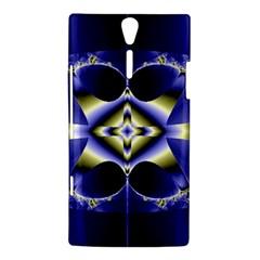Fractal Fantasy Blue Beauty Sony Xperia S
