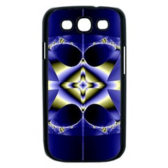 Fractal Fantasy Blue Beauty Samsung Galaxy S III Case (Black)