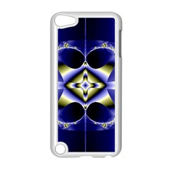Fractal Fantasy Blue Beauty Apple iPod Touch 5 Case (White)