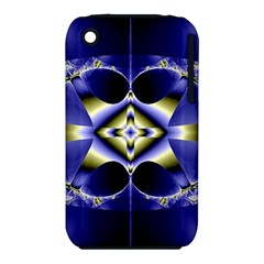 Fractal Fantasy Blue Beauty Apple iPhone 3G/3GS Hardshell Case (PC+Silicone)