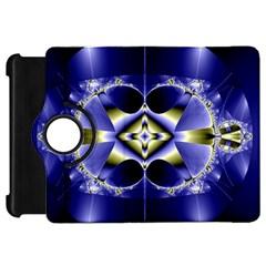 Fractal Fantasy Blue Beauty Kindle Fire HD Flip 360 Case