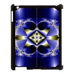 Fractal Fantasy Blue Beauty Apple iPad 3/4 Case (Black)