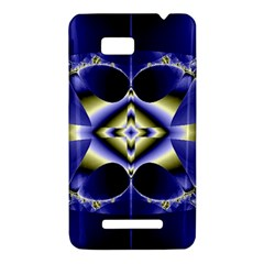 Fractal Fantasy Blue Beauty HTC One SU T528W Hardshell Case