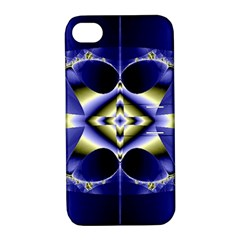 Fractal Fantasy Blue Beauty Apple iPhone 4/4S Hardshell Case with Stand