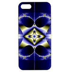Fractal Fantasy Blue Beauty Apple iPhone 5 Hardshell Case with Stand