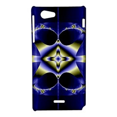 Fractal Fantasy Blue Beauty Sony Xperia J