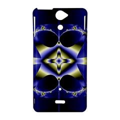 Fractal Fantasy Blue Beauty Sony Xperia V