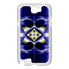Fractal Fantasy Blue Beauty Samsung Galaxy Note 2 Case (White)