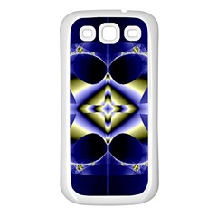 Fractal Fantasy Blue Beauty Samsung Galaxy S3 Back Case (White)