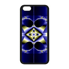 Fractal Fantasy Blue Beauty Apple iPhone 5C Seamless Case (Black)