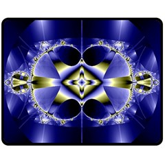 Fractal Fantasy Blue Beauty Double Sided Fleece Blanket (Medium)