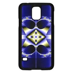 Fractal Fantasy Blue Beauty Samsung Galaxy S5 Case (Black)