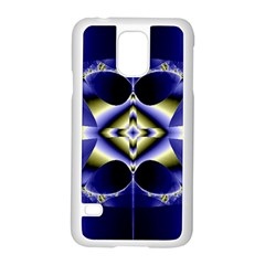 Fractal Fantasy Blue Beauty Samsung Galaxy S5 Case (White)