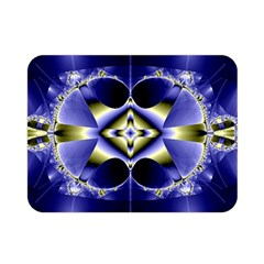 Fractal Fantasy Blue Beauty Double Sided Flano Blanket (Mini)