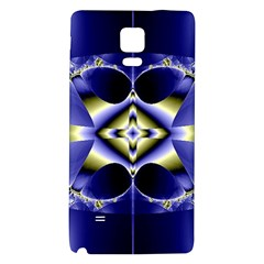 Fractal Fantasy Blue Beauty Galaxy Note 4 Back Case