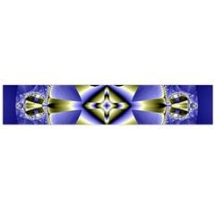 Fractal Fantasy Blue Beauty Flano Scarf (Large)