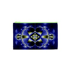 Fractal Fantasy Blue Beauty Cosmetic Bag (XS)
