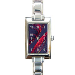 Fractal Fractal Art Digital Art Rectangle Italian Charm Watch