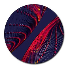 Fractal Fractal Art Digital Art Round Mousepads