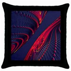 Fractal Fractal Art Digital Art Throw Pillow Case (Black)