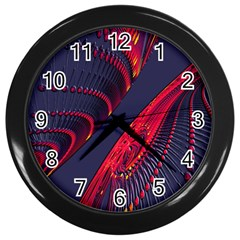 Fractal Fractal Art Digital Art Wall Clocks (Black)