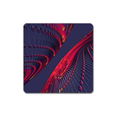 Fractal Fractal Art Digital Art Square Magnet