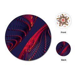 Fractal Fractal Art Digital Art Playing Cards (Round)