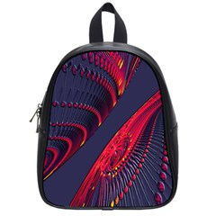 Fractal Fractal Art Digital Art School Bags (Small)