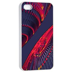 Fractal Fractal Art Digital Art Apple iPhone 4/4s Seamless Case (White)