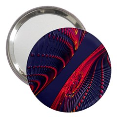 Fractal Fractal Art Digital Art 3  Handbag Mirrors