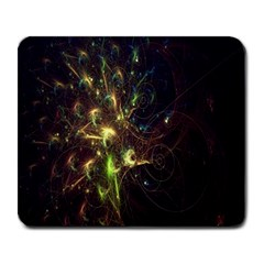 Fractal Flame Light Energy Large Mousepads