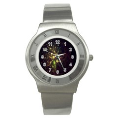 Fractal Flame Light Energy Stainless Steel Watch