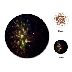 Fractal Flame Light Energy Playing Cards (Round)