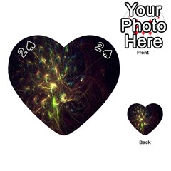 Fractal Flame Light Energy Playing Cards 54 (Heart)
