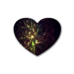 Fractal Flame Light Energy Heart Coaster (4 pack)
