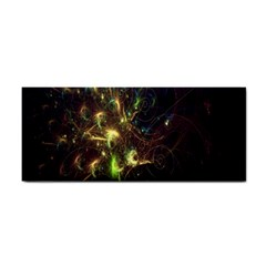 Fractal Flame Light Energy Hand Towel