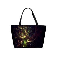 Fractal Flame Light Energy Shoulder Handbags